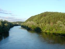 Река Северский Донец, меловые горы.