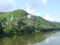 Северский Донец, меловые горы, меловая церковь в святых горах.