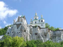 Святогорская Свято-Успенская обитель, меловая церковь Святого Николая. Николаевская церковь.